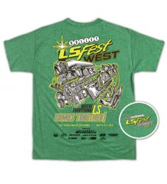 2017 LS FEST WEST ENGINE EVENT TEE - GREEN
