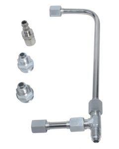 Dual Feed Fuel Line (Slayer Series - Silver)